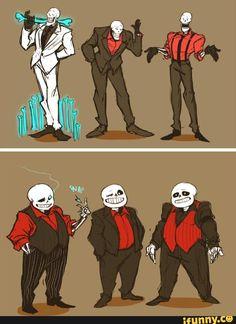 undertale, sans, papyrus, skeleton, suits