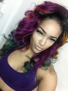Colorful curls