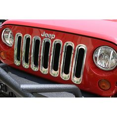 Grille Inserts, Chrome, 07-12 Jeep JK Wranglers - $59.99