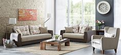 Doro Living Room Suite 3 Seater Sofa Bed, Beautiful Homes, Love Seat, Armchair, Couch, Living Room, Inspiration, Furniture, Home Decor