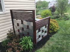 s 10 charming ways to add instant curb appeal to your home, Hide Eyesores With A Privacy Screen Patio Privacy Screen, Privacy Walls, Privacy Screens, Garden Privacy, Outdoor Privacy, Backyard Privacy, Privacy Fences, Home Depot, Plain Wooden Boxes