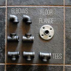 plumbing pipe elbows, tees, floor flange