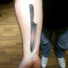 Chef Knife My tattoo No Pain No Brain Studio Berlin