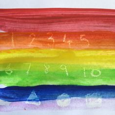 Rainbow message - colourwash pictures for toddlers