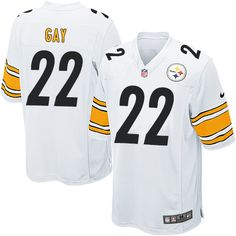 Nike Elite William Gay White Youth Jersey - Pittsburgh Steelers #22 NFL Road