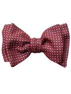 red silk check luxury bow tie