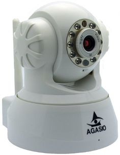 Agasio A502W Wireless IP Camera with IR-Cut Off Filter for TRUE COLOR Images (Not Washed Out), Auto-Iris (Auto-Brightness Adjustment), I/O Alarm Linkages, 26ft Nightvision, 3.6mm lens (90° Viewing Angle), Synology & Blue Iris Compatible, WHITE by Agasio. $64.99. The Agasio A502W Wireless IP Camera features a high quality video sensor combined with pan, tilt and an IR-Cut Filter lens for true color images that are not washed out. The camera supports remote interne...