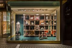 Mulberry New Bond Street – AW17 Check Window by Mulberry's Creative VM team, London – UK