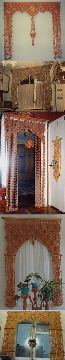 wall hangings, door hangings, macramé, inspiration