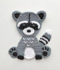 PATTERN Woodland Animal Applique Crochet Patterns PDF Rabbit
