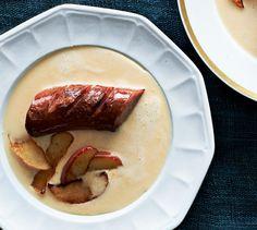 Beer And Cheddar Soup With Kielbasa Sausage