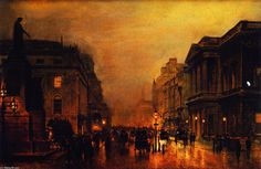 'London, Pall Mall, and Saint James Street', Painting by John Atkinson Grimshaw (1836-1893, United Kingdom)