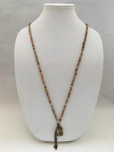 Coconut Seed & Opalescent Necklace