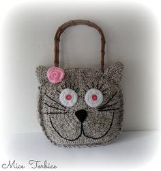 crochet Cat handbag by MiceTorbice on Etsy, $50.00