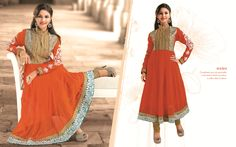 Compliment your shy personality in this kurta in timid rust colour to add a dash of drama!!!