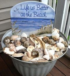 Seashells on the porch.
