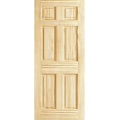 6 Panel Door, Solid Pine, Kimberly Bay® Interior Slab Colonial