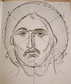 Drawing the Face of Christ.