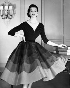 Love the shades of gray on her skirt in the black and white photo. Beautiful!