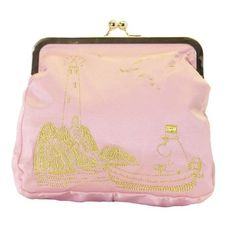 Pink large embroidered Moomin clutch bag by Ivana Helsinki