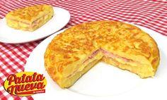 Comparte Recetas - Tortilla de Patata Rellena de Jamón y Queso