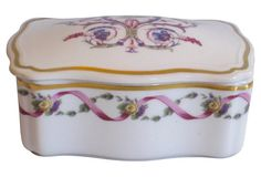 Ginori Italian Gilt Porcelain Casket Box