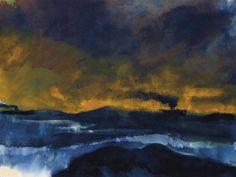Emil Nolde (1867-1956) Meer mit zwei qualmenden Dampfern, circa 1930
