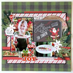 """The Pure Joy of Christmas Layout by Jana Eubank with """"A Perfect Christmas"""" Collection from #EchoParkPaper"""