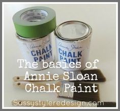 Annie Sloan Chalk Paint TIPS ~ LOTS of good tips here!!