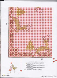 Chicken Scratch, Christmas And New Year, Hand Stitching, Crafts To Make, Kids Rugs, Embroidery, Table Clothes, Pattern, Mantel
