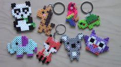 Easy Perler Bead Animal Keychains & Magnets #1