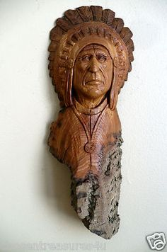 What an amazing wood carving, hand carved from cottonwood by a local artist in Canada. Excellent detail.