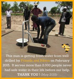 water well by Friends and Bikers