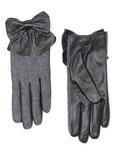 bow leather gloves, these are perfect!