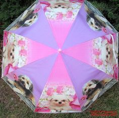 Umbrella Puppies Rain Protection New 36 inches Pink Handle Dogs #Puppies  #PuppyUmbrella