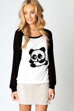 Cindy Sequin Panda Top