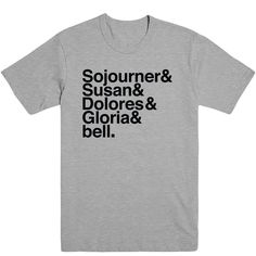 Famous Feminists Unisex Tee - Sojourner Truth, Susan B. Anthony, Dolores Huerta, Gloria Steinem and bell hooks. Womens Rights Feminism, Famous Feminists, Gloria Steinem, Feminine, Inspirational Quotes, Unisex, Women's Rights, Tees, Mens Tops