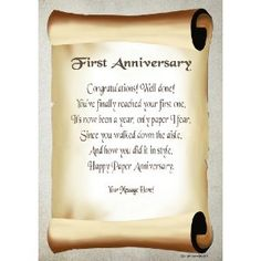 about 1st Wedding Anniversaries Gifts on Pinterest 1st anniversary ...
