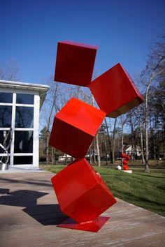 Quatro Modern Steel Abstract Sculpture Large Powder Coated Available in Corten Steel Sculpture, Modern Sculpture, Sculpture Clay, Abstract Sculpture, Wire Sculptures, Bronze Sculpture, Sculpture Rodin, Outdoor Sculpture, Outdoor Art