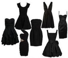Cómo combinar un vestido sencillo negro