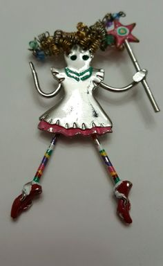 Vintage 1980s dangling legs fairy princess ...valued at $25.00...owned by Carol Lynn Sweets
