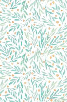 Leaves and berries are my favourite thing to paint. / if you couldnt tell / These were also very relaxing to make into a repeat pattern too. Its like art and maths all in one! Buy this artwork on apparel, stickers, phone cases, and more. Iphone Background Wallpaper, Aesthetic Iphone Wallpaper, Aesthetic Wallpapers, Floral Wallpaper Iphone, Surface Pattern Design, Pattern Art, Orange Palette, Cute Backgrounds, Iphone Backgrounds