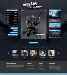 Bandzone Wordpress Theme is specially designed with a great help of our friends from a local rock band. No matter what band are you in, rock, pop or rap. Play with US! Ui Design, Restaurant Themes, Joomla Themes, Massage Center, All Themes, Website Themes, User Interface Design, Web Design Inspiration, Design Ideas