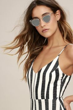Spitfire Outward Urge Gold and Clear Mirrored Sunglasses
