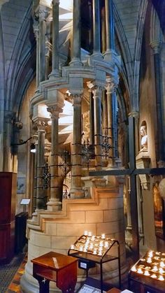 Visit St Patrick's cathedral in Dublin and make sure you don't miss this beautiful, elaborate staircase.
