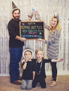 Pregnancy Dresses: Popping Bottles New Years Eve Pregnancy Announcement Baby Number 2 Announcement, Third Baby Announcements, Christmas Baby Announcement, Cute Pregnancy Announcement, Baby News, Baby New Year, Baby Number 3, Baby Time, Baby Winter