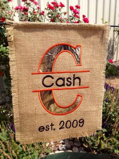 Personalized Custom Est Garden Flag in Real Tree Camo  on Etsy, $25.00