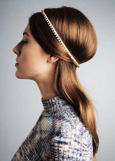 Sleek hairstyle