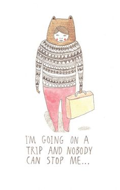 Art Print 'I'm Going On A Trip And Nobody Can par victoriawhincup