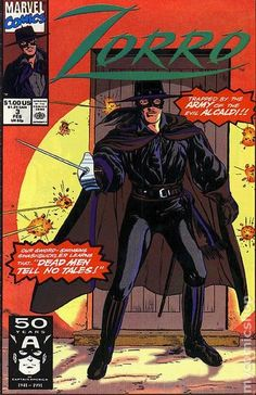 Zorro (1990 Marvel) 3 Marvel Comics Modern Age Comic book covers Super Heroes Villians